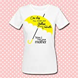 T-shirt donna One day I'll find my yellow umbrella, How I met your mother serie tv telefilm inspired HIMYM