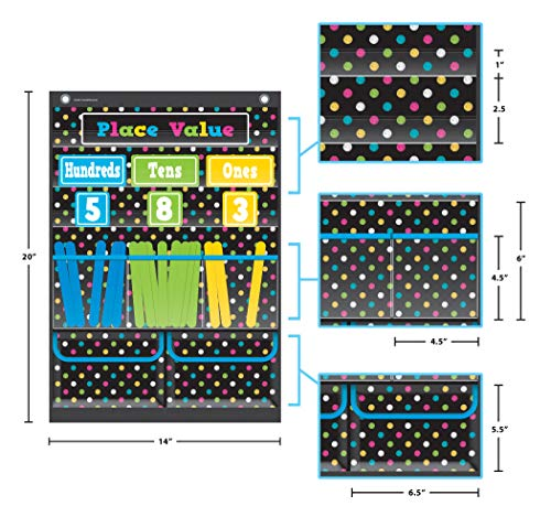 Teacher Created Resources Chalkboard Brights Place Value Pocket Chart (TCR20804) Photo #2