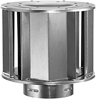 Round Gas Vent Aluminum High-Wind Cap - 3 inch