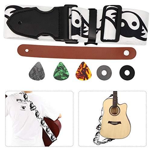 Acessórios para guitarra, correia de guitarra ecológica resistente para cabeças de guitarra acústica para guitarra elétrica para baixo para uso(Tai Chi Figure)