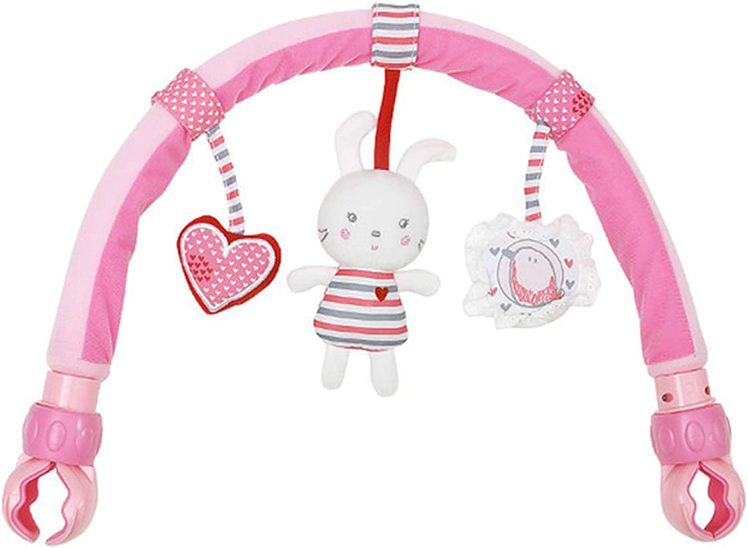 Singring Baby Pram Crib Activity Arch Plush Sunny Toy Stroller and Travel Activity Bar with Rattle and Exercise Baby Hands-On Ability