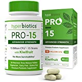 PRO-15 Advanced Strength Probiotics with Kiwi Extract - 15 Strains -30 Once Daily Tablets ...