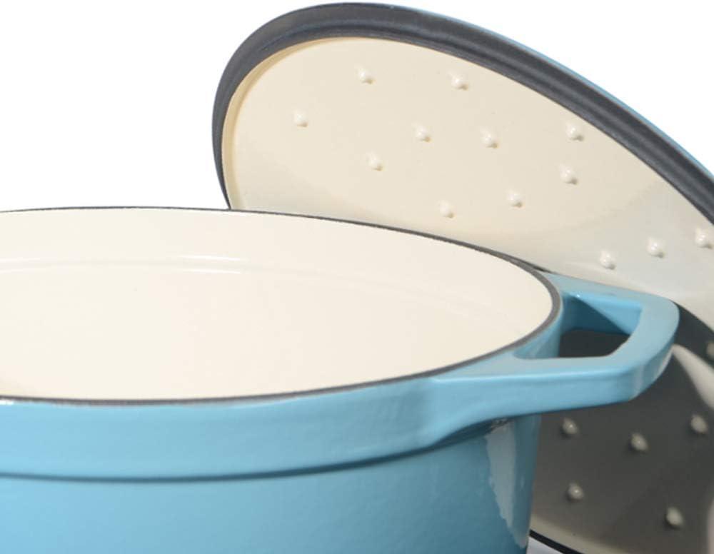 ProCook - Grande Cocotte Faitout Oval - 30cm / 6,2L - Noir Mat - Fonte Émaillée - Compatible Induction Dégradé Turquoise - 30 Cm / 6,2 L