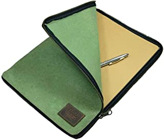 Hide & Drink, Zippered Journal Cover for Moleskine Notebook, XXL (8.25 x 11.75 in.), Notebook NOT Included, Cahier Case, Handmade Includes 101 Year Warranty :: Waxed Canvas