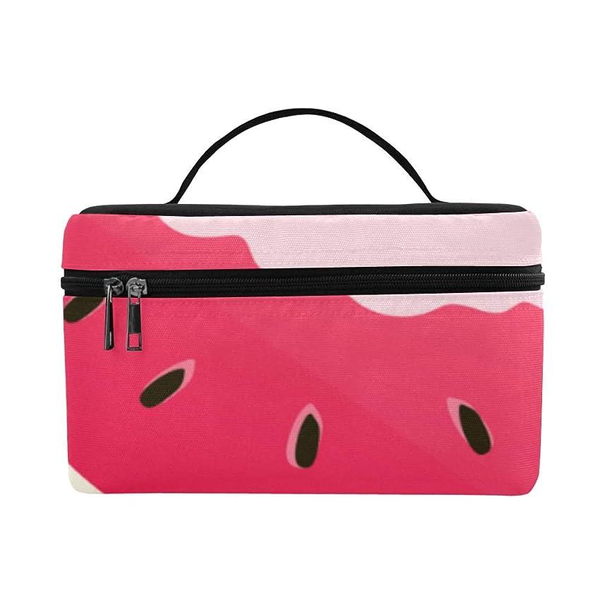 発見楽しませる公然とGGSXD メイクボックス 夏スイカ コスメ収納 化粧品収納ケース 大容量 収納ボックス 化粧品入れ 化粧バッグ 旅行用 メイクブラシバッグ 化粧箱 持ち運び便利 プロ用