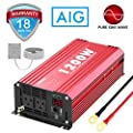 1200Watts Pure Sine Wave Power Inverter DC 12V to AC 120V with Remote Control USB Port & LED Display for RV Laptop CPAP & Emergency