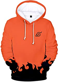Memoryee Anime Naruto 3D Imprimer T-Shirt 4th//6th Hokage Pull /à Manches Courtes Gros Poche avec Sweat /à Capuche Grande Taille Top Costume Cosplay