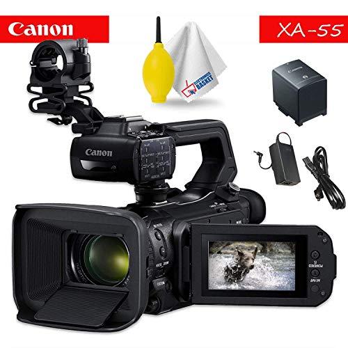 Best Price Canon XA55 Professional UHD 4K Camcorder Base Accessory Bundle