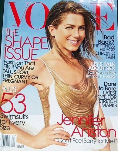 Vogue Magazine April 2006 Jennifer Aniston (Single Back Issue)