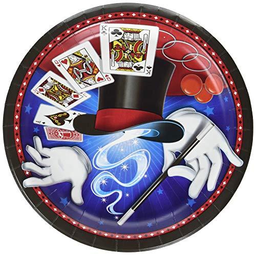Zauberer Magie 8 Teller Durchmesser 23 cm