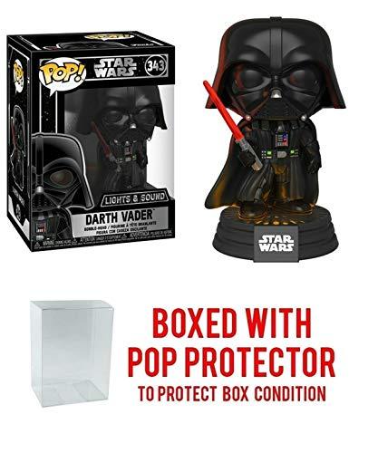 Figura de Vinilo de Darth Vader Electrónica con Luces y Sonido #343 Pop! Movies (Incluye Funda…