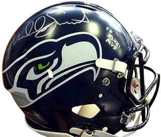 Malcolm Smith Signed Seattle Seahawks Riddell Football Helmet - Autographed NFL Football Helmets
