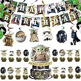 ZHOUSAN Juego de 58 piezas de dibujos animados para fiesta de cumpleaños Tik Tok COCO Mickey Raya Luca Spiderman Robo