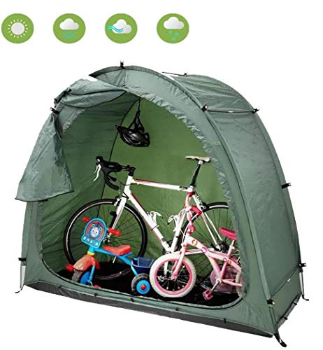 HXML Outdoor Garden Bike/Camping Tent/Backyard Bicycle Storage/Rain Shelter/Waterproof Windproof Easy Set Up - Green