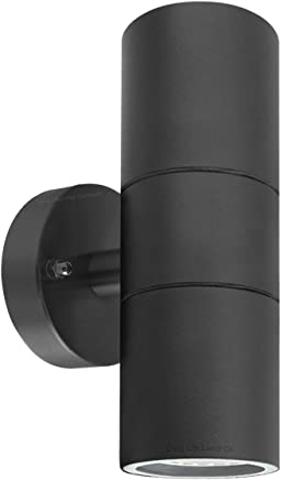 Modern Black Double Up Down Outdoor Stainless Steel Wall Light, Use GU10  IP65
