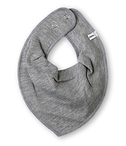 1402 Scarf bib -dribble tight -solid 123 Grey melange