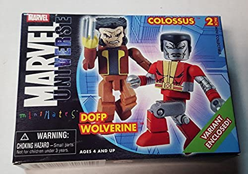 Marvel Universe Minimates  Days of Future Past Wolverine and Colossus by Diamond Select Toys Art Asylum