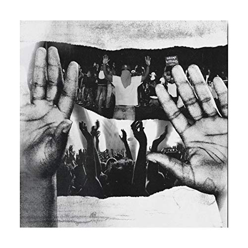 DNJKSA Custom Young RJ Slum Village Mega Ran - Póster con 2 Manos en Alto Lienzo Art Decor Album Cover -55x55cm sin Marco 1 Pieza