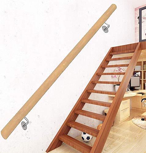Handrail de la escalera, pasillo antideslizante de la escalera de madera Barra de soporte, 50 ~ 600 cm, casa montada en la pared Corredor de jardín Corredor Lofts Kit de barandillas (Tamaño: 280 cm)