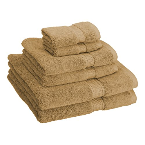 Superior 900GSM 6 PC Towel Set, 6PC, Toast