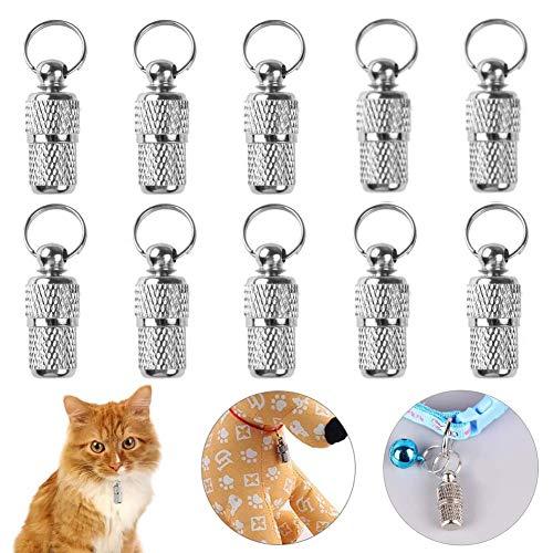NALCY 10 x Colgantes para identificar Perros pequeños y Gatos – Identificador Adecuado para...