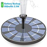 Hiluckey Solar Bird Bath Fountain with Battery...
