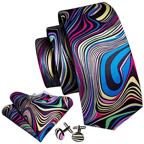 ZAIZAI Juego de corbatas de seda para hombre, caja de regalo de negocios, corbata de fiesta, pañuelo y corbata de moda (color : A, tamaño: talla única)