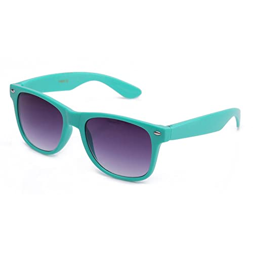 f4c69ef2fca12a 80's Classic Blue Brothers Wayfarer Styles Vintage Retro Solid Color  Sunglasses in Teal