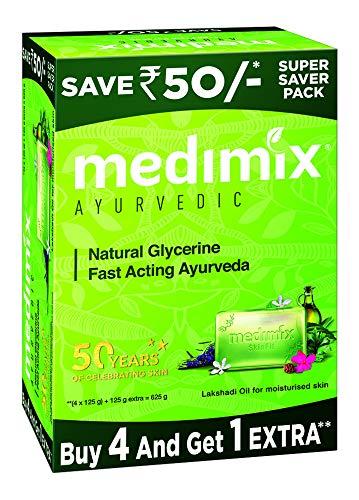 Medimix Ayurvedic Natural Glycerine Bathing Bar,...