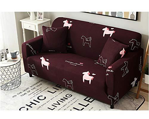 GELing Stretch Sofabezug Sofa Schutz Abdeckung Vsofaüberwurf Möbelschutz Sofaüberzug Couchbezug 7 2 Sitzer(150-185CM)