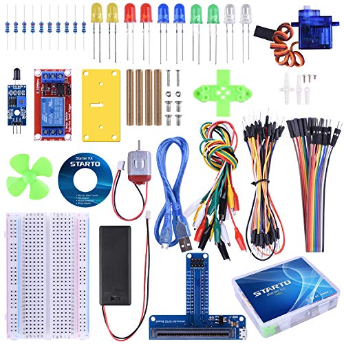 STARTO Kit for BBC Micro:bit Starter Kit Zubehör with SG90 Servo Expansion Board Battery Holder Jumper Wires 220R Resistors for Classroom Teaching DIY Kids Beginners with Free Tutorial TX02