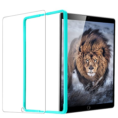 ESR iPad Pro 9.7 フィルム 2017年と2018年版モデル通用 Air2 Air iPad 9.7インチ通用 日本製ガラス素材 三倍強化 0.3mm 液晶保護フィルム 貼り付けガイド枠付き 硬度9H 気泡自動排除 スクラッチ 指紋防止