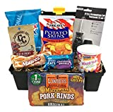 Golden Gift Box Man Toolbox Gift Basket with Chips, Nuts, Jerky Sweet Snacks (Snack Gift - Toolbox)