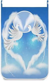 CPYang Panier à Linge Suspendu à Suspendre pour la Saint Valentin Coeur Pigeon, Gain de Place au Mur Panier à Linge avec 2...