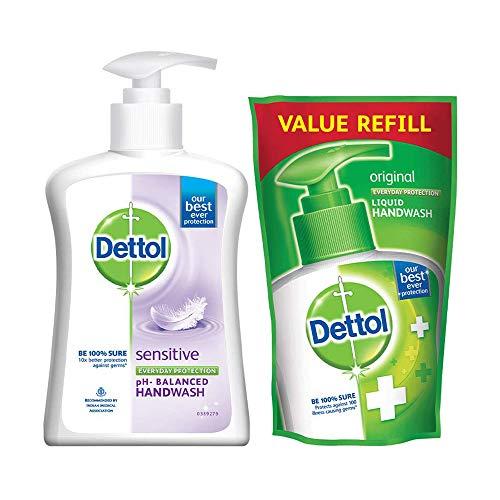 Dettol Liquid Sensitive Handwash - 200 ml with Free Dettol...