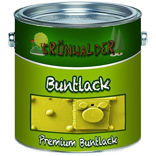 Grünwalder Bunt-Lack premium Schutz-Farbeoptimale Deckkraft & UV-Beständigkeit (1 L, Moosgrün (RAL 6005))