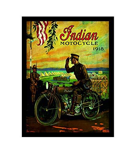 Ecool Indian motocycle bike retro shabby chic vintage stijl acryl koelkast magneet of kan worden gebruikt een plaque