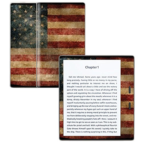 "MightySkins Skin Compatible with Amazon Kindle Oasis 7"" (9th Gen) - Vintage Flag 