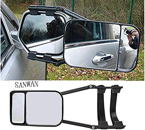 SANWAN Miroir de remorquage pour voiture avec double bras long pour caravane