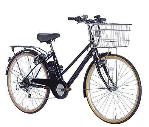 21Technology 電動アシスト自転車 (26インチ) シマノ製外装6段変速 自転車 電動アシスト シティサイクル 型式認定 リチウムイオンバッテリー DACT266 (ジェットブラック)