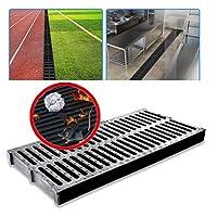 浴室用ユニット 床ドレン 排水口カバー 排水路の床の排水排水排水システムの二重列の滑り止め防止詰まり防止の良い靭性屋外、9サイズ (Size : 500x250x25mm)