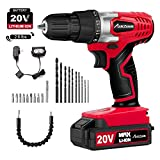 Avid Power 20V MAX Lithium Ion Cordless Drill, Power Drill Set with 3/8