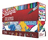 Sharpie 1983255 Permanent Markers Ultimate Collection, Fine and Ultra Fine Points, Assorted Colors,...