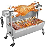 "Generic 132LBS 35.43"" Lamb Pig Goat Charcoal Barbeque Grill Spit Rotisserie Hog Roasting Machine with Wind Shield Motor"