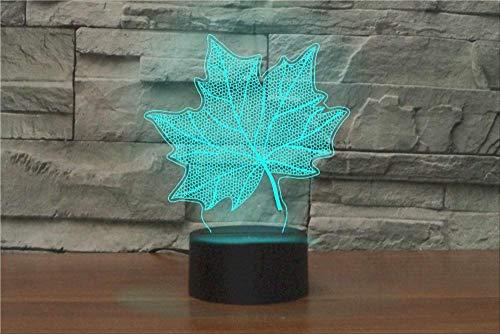 Cadeaus voor je vriend gaming lights Maple Leaves 7 kleurenlamp 3D Visual LED nachtlampen voor kinderen Touch USB tafellamp baby slaap nachtlicht Motion Light met verrekijker