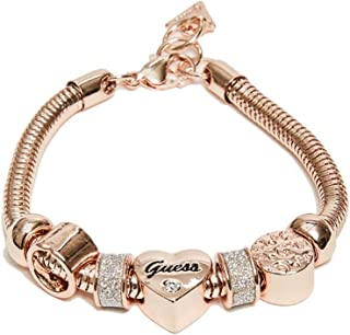 Women's Rose Gold-Tone Heart Rope Bracelet, NS