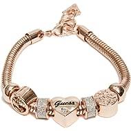 Women's Rose Gold-Tone Heart Rope Bracelet, NS