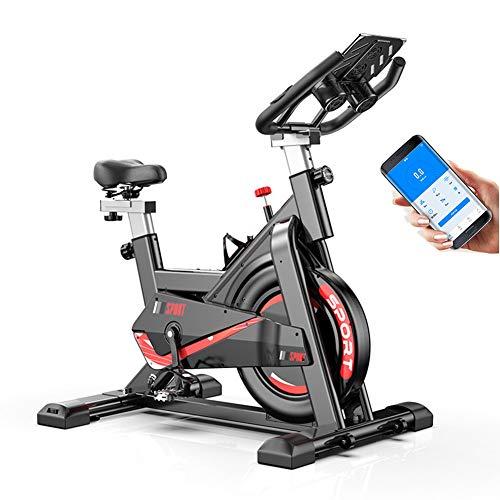 Hometrainer Ultra Mute Stationaire Indoorfiets Met Monitor, Verstelbare Stoel En Stuur, Aansluitbare APP, 330Lb Draagvermogen