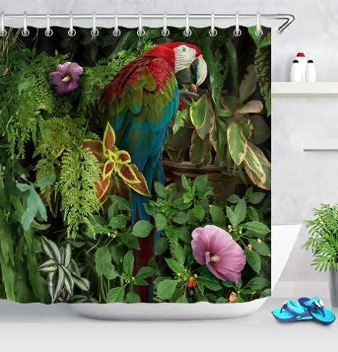 Duschvorhang New Yorker Street View Shower Curtain Textil Vorhang Shower Curtains for Bathroom Decor 180*200Cm Top Qualität Wasserdicht, Anti-Schimmel-Effekt 3D Digitaldruck Inkl. 12 Duschvorhang