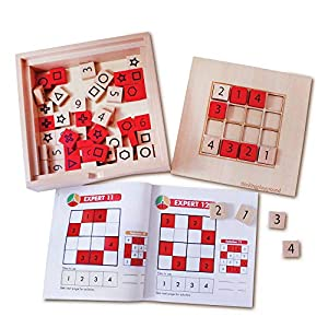 4x4 & 6x6 Wooden Sudoku Logic Thinking Puzzle Game for Kids with 60 Challenges
